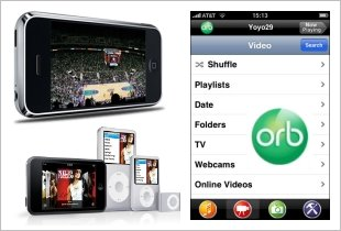 OrbLive internet TV on Apple iPhone and iPod
