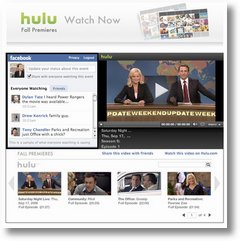 Hulu Launch Watch Now Facebook TV App