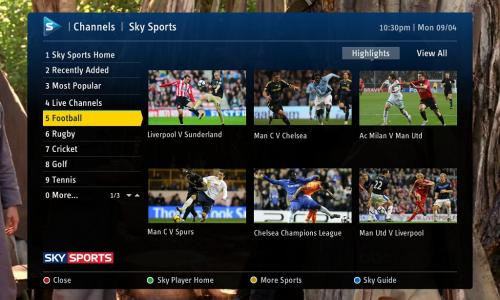 Watch Sky TV on Fetch, if your a Sky subscriber