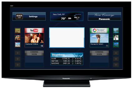 panasonic add social networking to internet connected tv. Black Bedroom Furniture Sets. Home Design Ideas