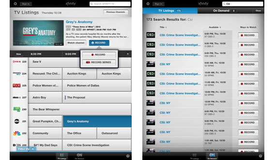 iPad And iPhone TV Viewers Get Infinity App From Comcast