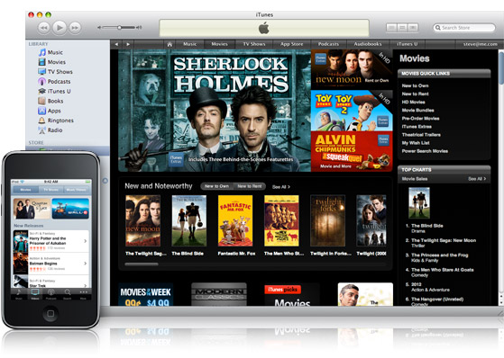 apple reign supreme in the movie download market