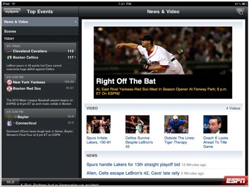 ESPN mobile sports streaming