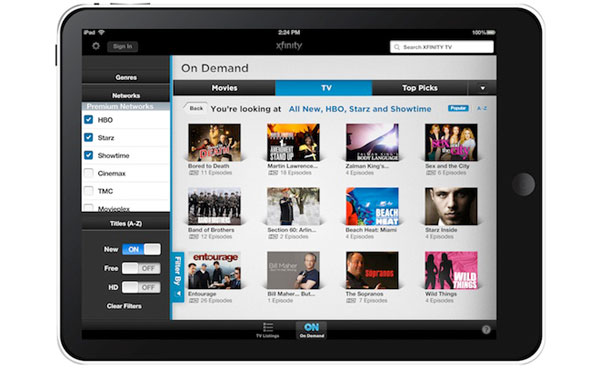 Xfinity TV App Launches For Apple iPhone And iPod
