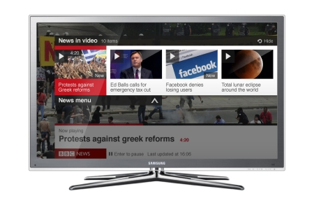 BBC news app on connected TV