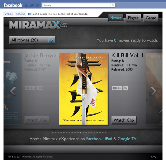 Miramax streaming comes to Facebook