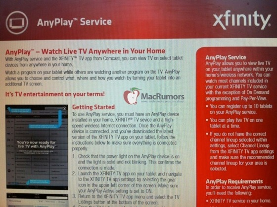 Comcast Bringing Live Cable TV To iPad