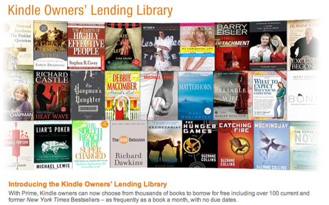 Amazon Launch Free e-Book Library For Prime Members