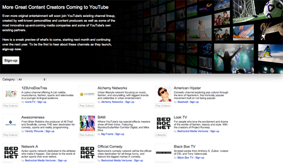YouTube Confirms 100 New Channels To Launch