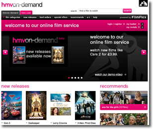 HMV join the crowded UK streaming market