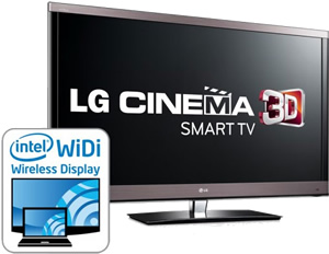 lg smart 3dtv gets widi built in for easy wireless streaming. Black Bedroom Furniture Sets. Home Design Ideas