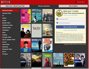 Netflix UK. So many shows..I've never heard of