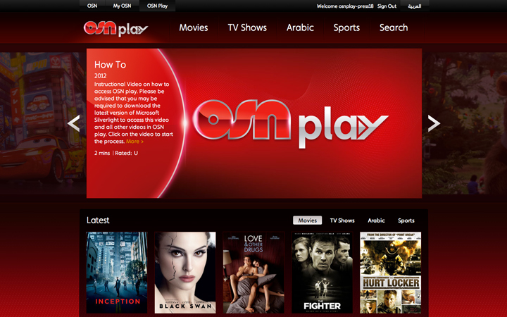 OSN Create Online Service For Middle Eastern Market