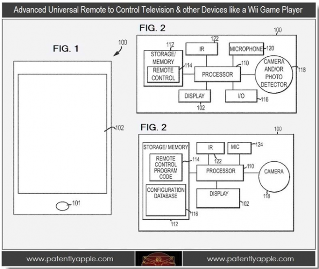 Apple Attempt To Patent A Universal Virtual TV Remote