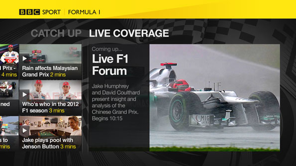 BBC Sport Reveal Virgin TiVo App