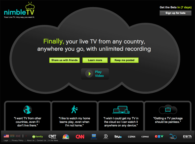 Nimble Launch Subscription Cloud Streaming Service