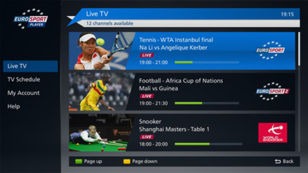 Eurosport Reveal Panasonic And Sky Go As Additional Streaming Platforms