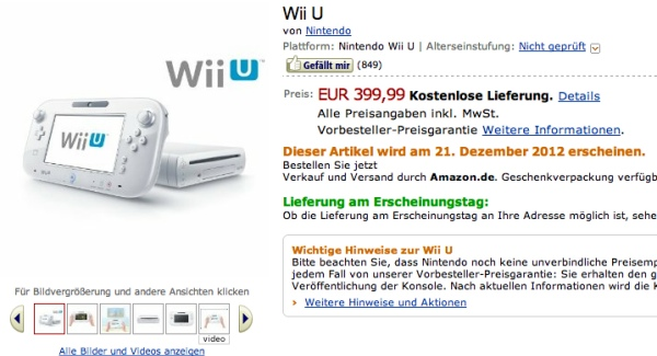 Wii U Leak Release Through Amazon Germany
