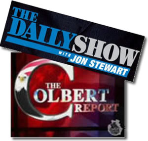 Colbert Report and Daily Show back online