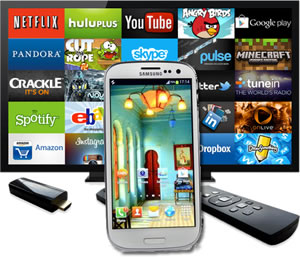 how to use mobile to tv
