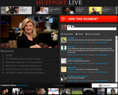 Huffington Post Offer Huffpost Live Video News Service