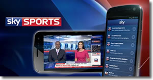 Sky sports app comes to Android phones