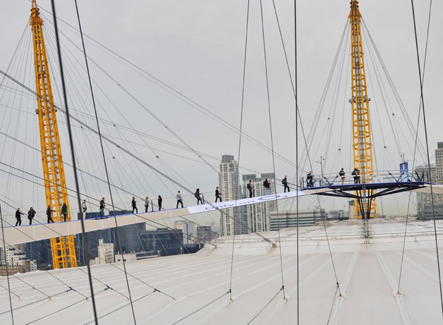 O2 Launch New iPhone From The Top Of The Dome