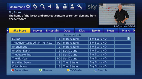 Sky On Demand Filme