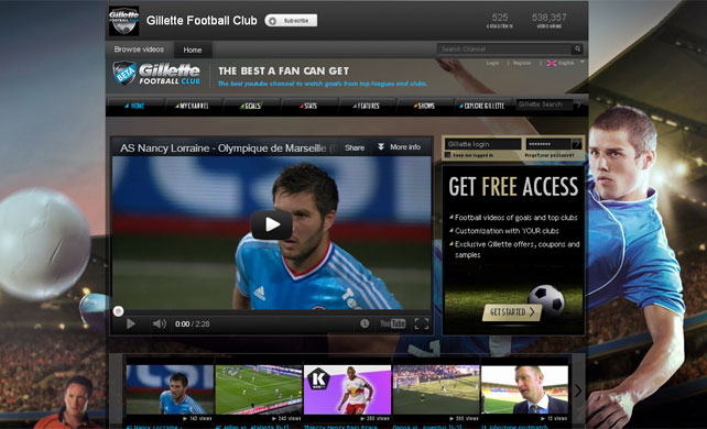 Gillette Launch Football Highlights Channel For YouTube