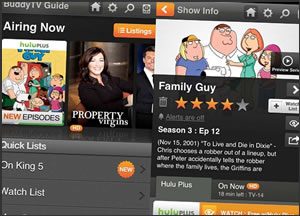 BuddyTV Guide App Introduces Hulu Plus Listings