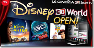 Disney 3D Movies coming to LG TV