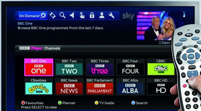 Access iPlayer from your Sky box