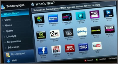 Samsung Reports Video Apps Dominate On Smart TVs
