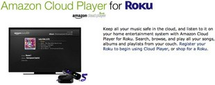 Amazon Cloud Player Launches On Roku And Samsung Smart TV