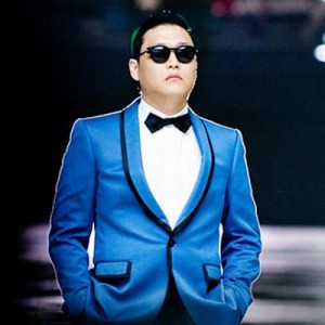 Psy in his Gangnam costume