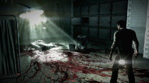 Gory scene from The Evil Within