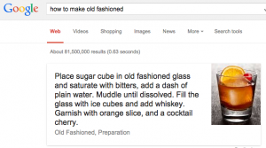 Google bartender feature