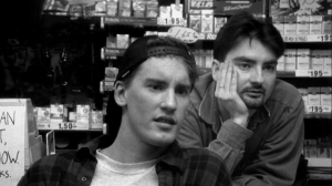 Screen shot from the movie Clerks