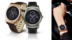 LG smartwatch color selection
