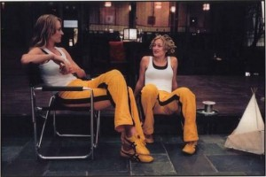 Movie star Uma Thurman and her stunt double
