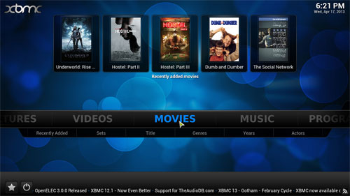 xbmc media center software free