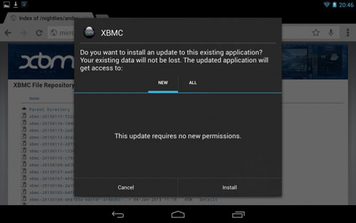 how to download xbmc for android