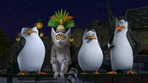 king_julian_with_penguins_madagascar