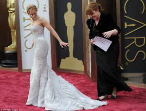 The red carpet at the oscar awards 2014