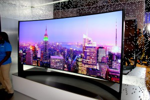 Curved Samsung TV