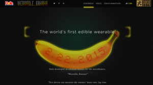 Edible wearable banana