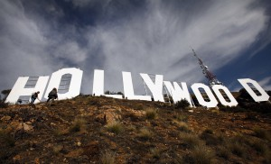 Refurbished Hollywood sign gets its close-up