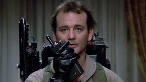 Bill Murray starring in The Ghost Busters